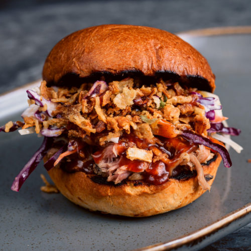 BBQ Pulled pork burgers