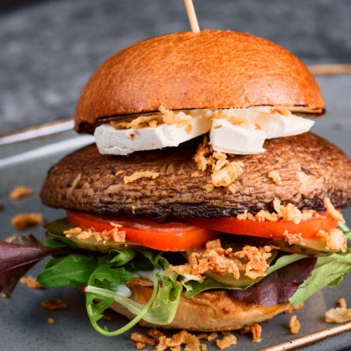 Portobello sēņu burgers