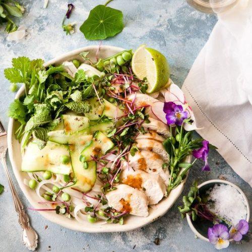 Cāļa filejas salāti